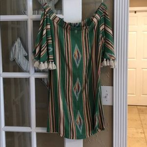 Judith March Serape Off The Shoulder Dress